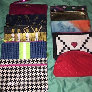 Lot of 10 Ipsy cosmetic bags